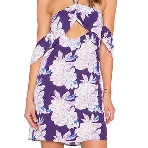 Flynn Skye purple floral mini dress